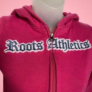 Roots Athletics Pink Zip-Up Hoodie